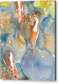 Koi Fish No.9 16x20 Acrylic Print by Sumiyo Toribe
