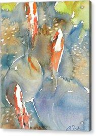 Koi Fish No.9 24x30 Acrylic Print by Sumiyo Toribe