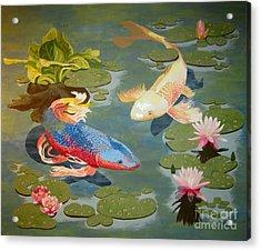 Koi II Acrylic Print by Jennifer  Donald