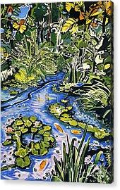 Koi Pond Acrylic Print by Fay Biegun - Printscapes