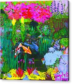 Koi Pond I Acrylic Print by Angela Annas