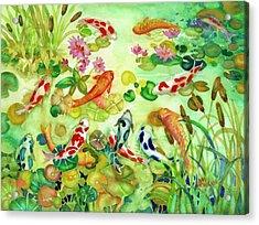 Koi Pond II Acrylic Print