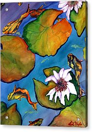 Koi Pond II Sold Acrylic Print by Lil Taylor