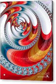Koi Spiral Acrylic Print by John Edwards