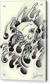 Koi Through The Water Acrylic Print