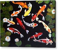 Koi V Acrylic Print