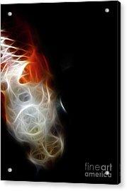 Koi Acrylic Print by Wingsdomain Art and Photography