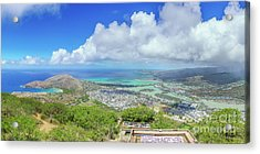 Acrylic Print featuring the photograph Kokohead Oahu, Hawaii by Hans- Juergen Leschmann