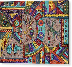 Kokopelli Mandala Acrylic Print