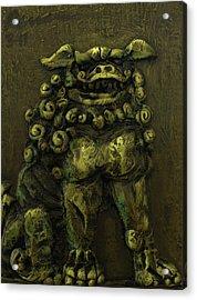 Komainu Guardian Acrylic Print by Erik Pearson