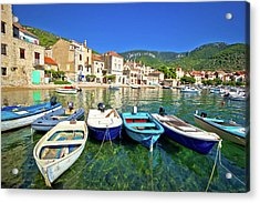 Komiza On Vis Island Turquoise Waterfront Acrylic Print