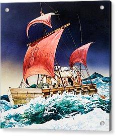 Kon Tiki On Its Epic Voyage Acrylic Print