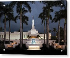 Kona Hawaii Temple-night Acrylic Print