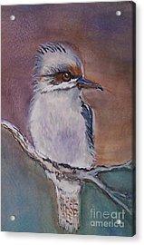 Acrylic Print featuring the painting Kookaburra Fancy by Leslie Allen