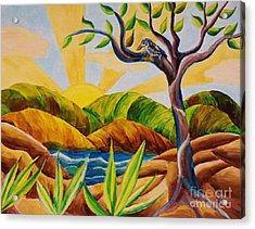 Kookaburra Landscape Acrylic Print