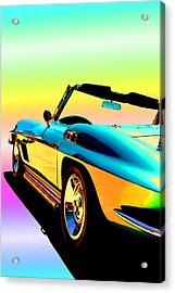 Kool Corvette Acrylic Print by Lynn Andrews