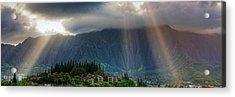 Koolau Sun Rays Acrylic Print