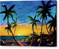 Ko'olina Sunset On The West Side Of Oahu Hawaii #299 Acrylic Print by Donald k Hall