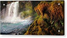Koosah Falls Panoramic Acrylic Print