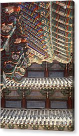 Korean Buddhism Temple Photography - Temple Tiles Acrylic Print
