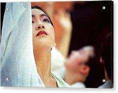 Korean Dancers Acrylic Print by T Monticello