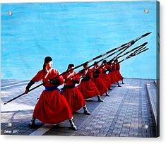 Korean Martial Arts By Taikan Acrylic Print