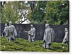 Korean War Memorial 4 Acrylic Print by Teresa Blanton