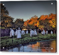 Korean War Memorial In Washington Dc Acrylic Print