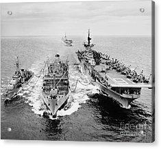 Korean War: Ship Refueling Acrylic Print by Granger
