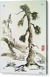 Acrylic Print featuring the painting Korei-sha Matsunoki by Roberto Prusso