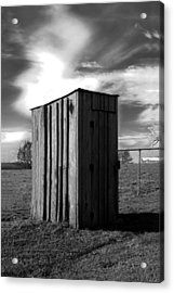 Koyl Cemetery Outhouse Acrylic Print by Curtis J Neeley Jr
