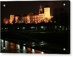 Acrylic Print featuring the photograph Krakow At Night by Votus