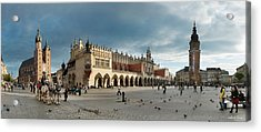 Krakow's Grand Square Acrylic Print by Robert Lacy