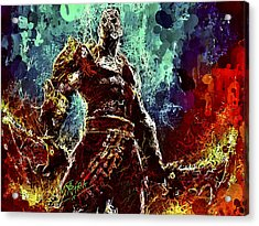 Acrylic Print featuring the mixed media Kratos by Al Matra