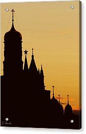 Kremlin Dusk Acrylic Print by Joe Bonita