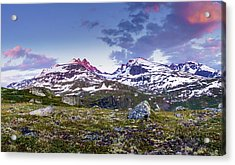 Acrylic Print featuring the photograph Crimson Peaks by Dmytro Korol