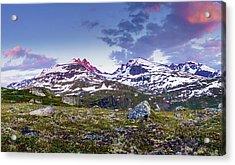 Crimson Peaks Acrylic Print by Dmytro Korol