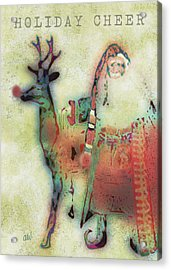 Kris And Rudolph Acrylic Print by Arline Wagner