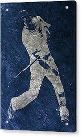 Kris Bryant Chicago Cubs Art Acrylic Print by Joe Hamilton
