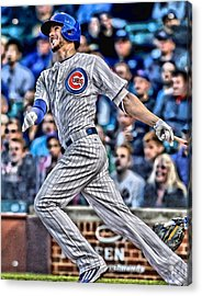Kris Bryant Chicago Cubs Acrylic Print by Joe Hamilton