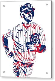 Kris Bryant Chicago Cubs Pixel Art 11 Acrylic Print
