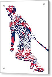 Kris Bryant Chicago Cubs Pixel Art 12 Acrylic Print