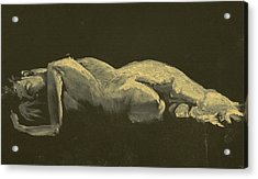 Kroki 2014 09 27_3figure Drawing White Chalk  Acrylic Print