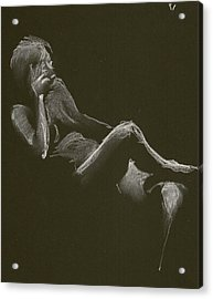 Kroki 2014 12 27_3 Figure Drawing White Chalk Acrylic Print
