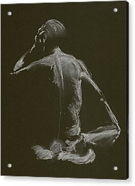 Kroki 2015 01 10_14 Figure Drawing White Chalk Acrylic Print