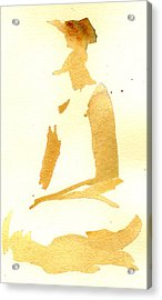 Kroki 2015 03 28_29 Maalarhelg 3 Akvarell Watercolor Figure Drawing Acrylic Print