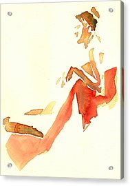 Kroki 2015 03 28_29 Maalarhelg 4 Akvarell Watercolor Figure Drawing Acrylic Print