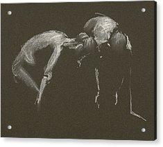 Kroki 2015 04 25 _1 Figure Drawing White Chalk Acrylic Print