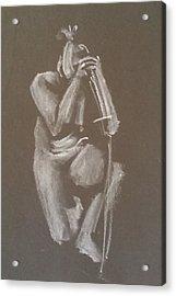 Kroki 2015 06 18_4 Figure Drawing Chinese Sword White Chalk Acrylic Print