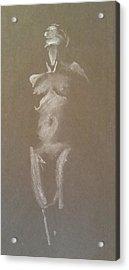 Kroki 2015 06 18_6 Figure Drawing White Chalk Acrylic Print